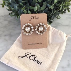 NWT J CREW SPARKLY STUD EARRINGS